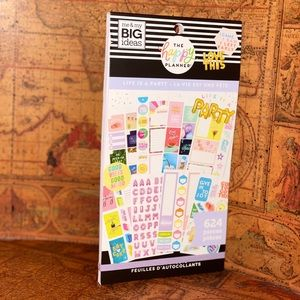 "happy planner ""Life Is A Party"" Stickers book"
